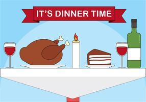 Desenho livre vetor design jantar