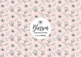 Hand Drawn Blossom Apple Tree Branches Seamless Pattern