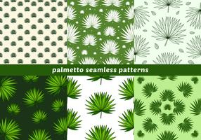 Palmetto Seamless Patterns vector