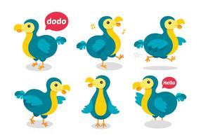 Gullig Dodo Cartoon