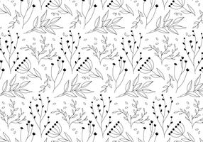 EARMARKED Outline Vector Plant Pattern