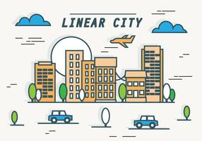 LARGURA EARMARKED Linha Linear Cityscape Vector Background