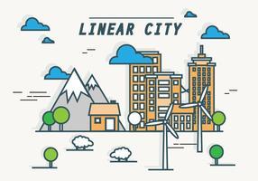 EARMARKED vert Energy Linear Cityscape vecteur de fond