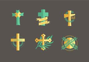 Religiösa Palm Sunday Christianity Symbol Vector Pack