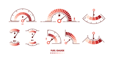 Fuel Gauge Vector Illustrations