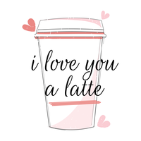 I Love You a Latte vector