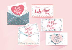 Valentine Cards Vector