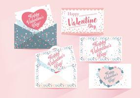 Valentinskarten Vektor