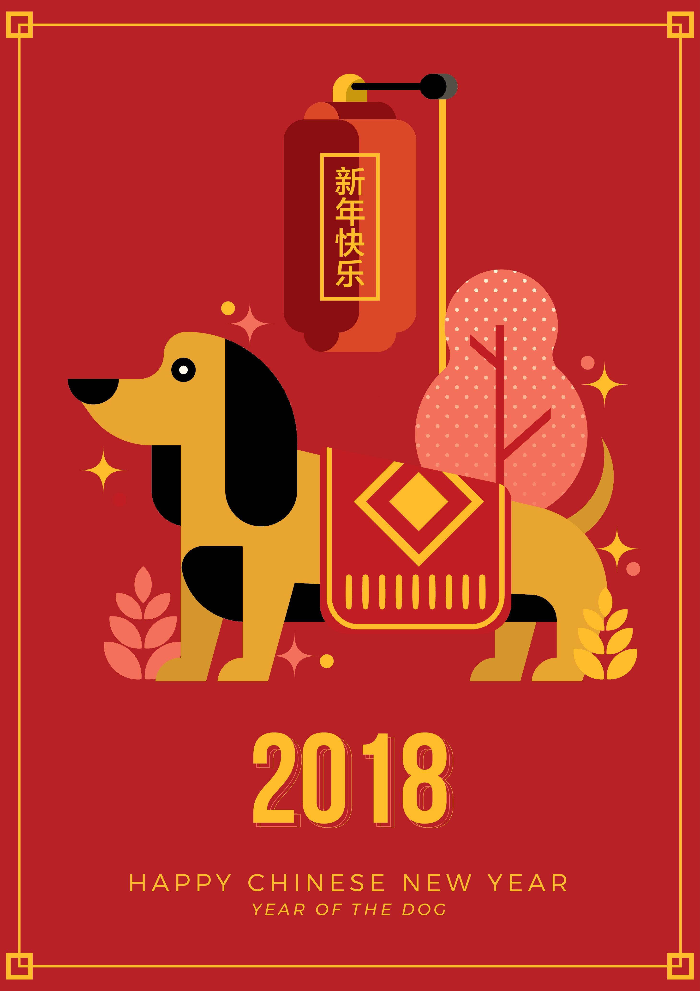 Chinesische Neujahrs-Grußkarte - Kostenlose Vektor-Kunst, Archiv ...