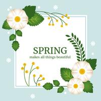 Spring Vector Greeting Card Design