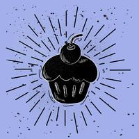 Hand Drawn Vector Cake Illustration