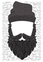 Illustration de barbe de vecteur dessinés à la main