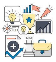 Iconos de estrategia de negocios gratis