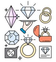 Linear Jewelry Shop vector