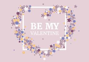 Vector Valentine's Day Greeting Card Design