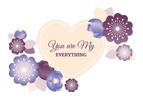 Carte de voeux de vecteur Saint Valentin