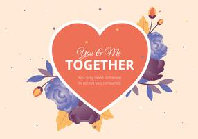 Cartolina d'auguri di vettore di San Valentino