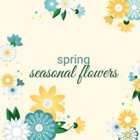Beautiful Spring Greeting Card Design Illustration