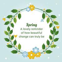 Carte de voeux de vecteur beau printemps