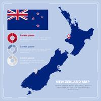 Mapa de Nova Zelândia do vetor