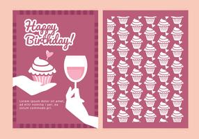 Vector Birthday Wishes Card