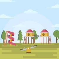 Illustration vectorielle Flat Playhouse