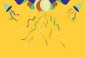 Vecteur de décoration de fond confettis colorés