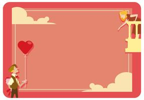 Valentine Romantic Card Vector