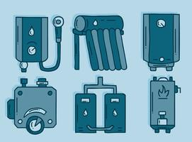 Sketch Water Heater Element Vector