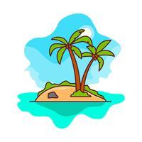 Vector libre de Desert Island