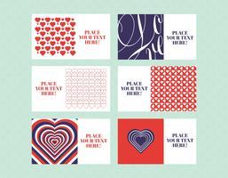 Pacote de vetores de cartões do Valentim