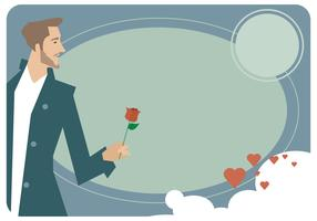 Man Valentine Card Vector