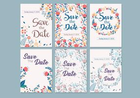 Wedding Save the Date Template Vector