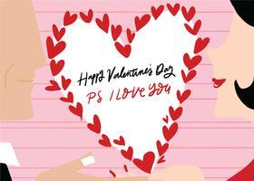 vector de San Valentín pareja vector dibujado a mano