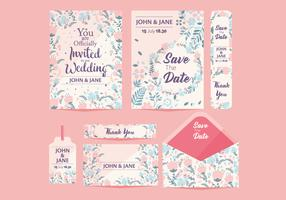 Hochzeit Save the Date Vol 2 Vektor