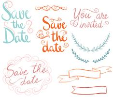 Free Save The Date Vectors