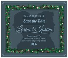 Mariage gratuit Save The Date Floral Vector