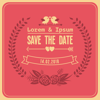Gratis bruiloft Save The Date Vector