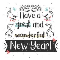 Vecteur de typographie de nouvel an