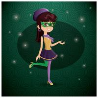 Mardi gras woman vector