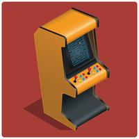 Vecteur de machine rétro arcade