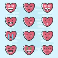Valentine Day Emoticon Vector