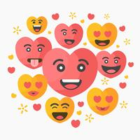 Gratis Valentine Emoticon Vector