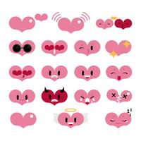 Heart Emoji Set Vector