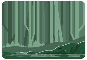 vector de aligator de pantano