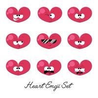 Cuore Emoji Set Vector
