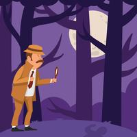 Detective Searching a Clue vector