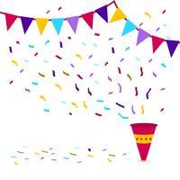 Ilustración colorida del vector del confeti