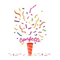 Illustration vectorielle de confettis colorés