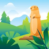 Gopher Illustration Gratis Vektor